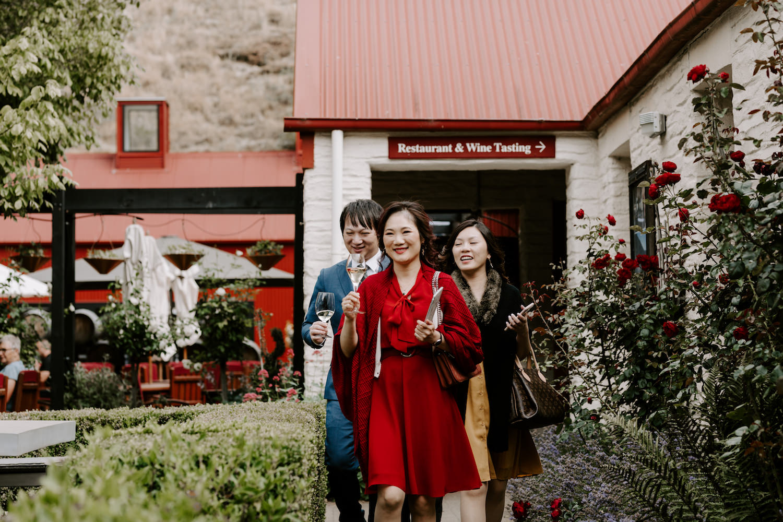 gibbston winery wedding