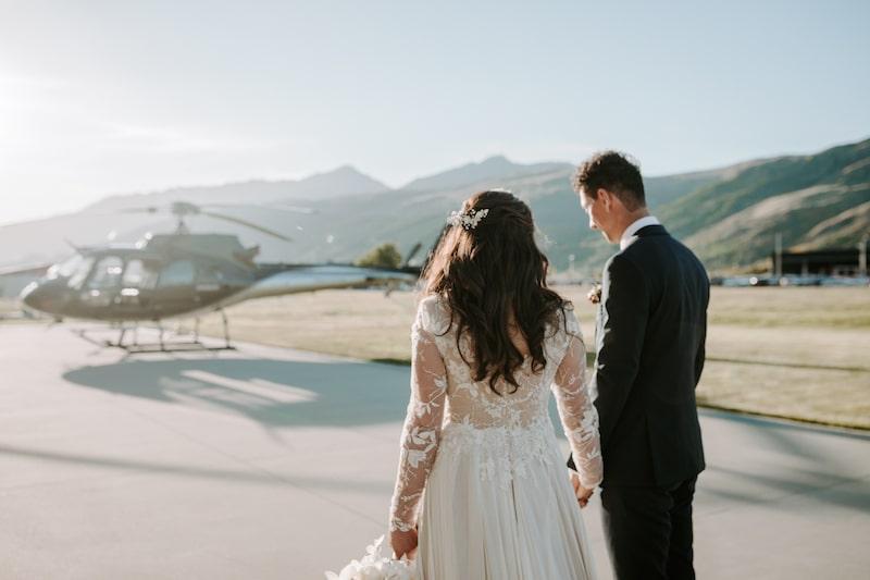 heli wedding queenstown