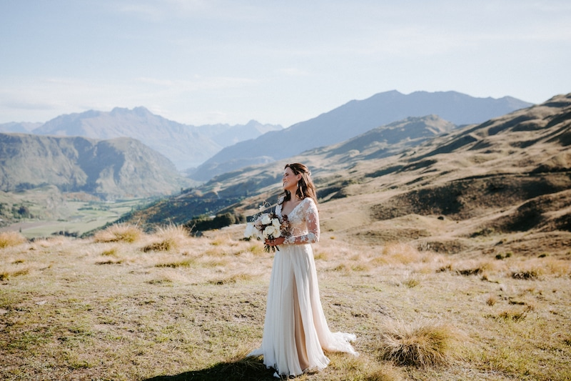 newzealand mountain elopement